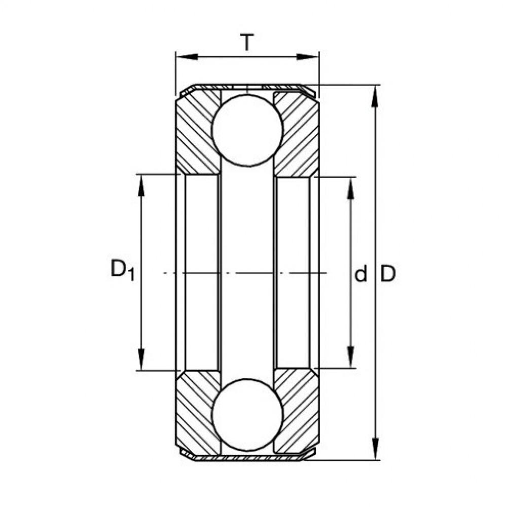Упорный шариковый подшипник INA (Schaeffler) B40